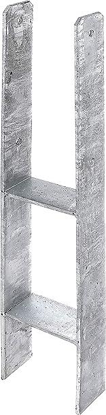 Materialst/ärke: 4 mm GAH-Alberts 213718 H-Pfostentr/äger Edelstahl Gesamth/öhe: 600 mm lichte Breite: 91 mm