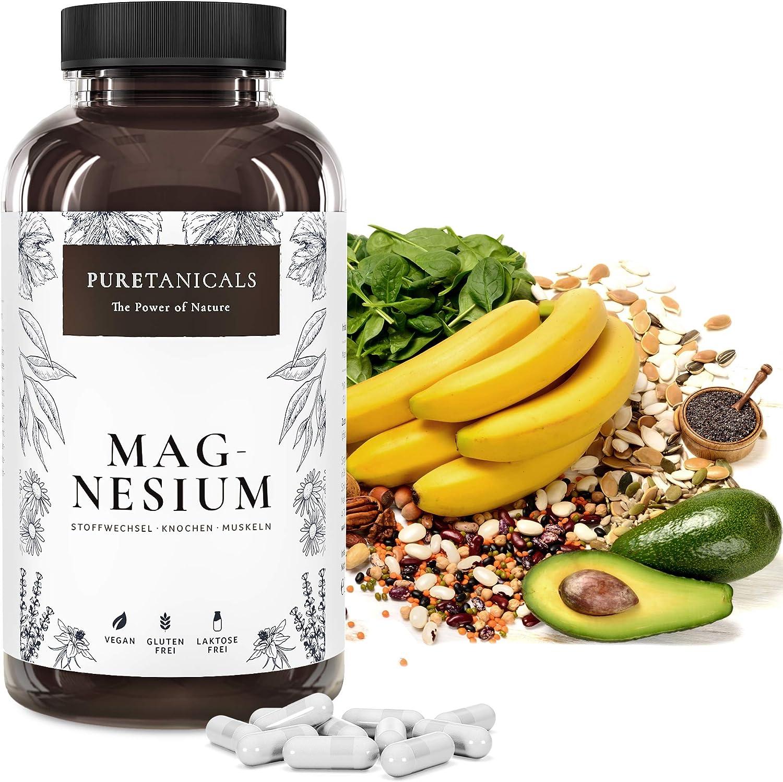 Integratore alimentare MAGNESIO. 365 capsule (stock annuale) da 664 mg di ossido di magnesio, di cui 400 mg di magnesio ELEMENTARE Puro