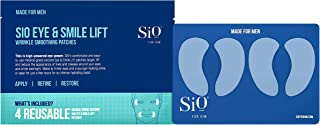 SiO Beauty For Him Eye & Smile Lift   Eye & Smile Anti-Wrinkle Patches 4 Week Supply   Overnight Smoothing Silicone Patches For Eye & Smile Wrinkles And Fine Lines