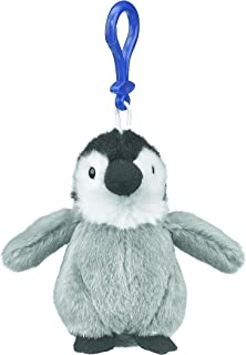Wildlife Tree 4 Inch Emperor Penguin Chick Stuffed Animal Clips for Kids Backpack Toy