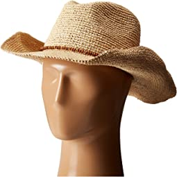 Hat Attack - Raffia Crochet Cowboy with Bead Trim