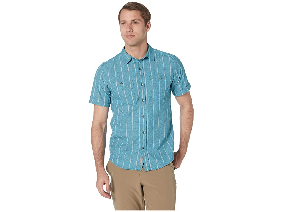 Royal Robbins Vista Dry Short Sleeve Shirt (Smoke Blue) Men