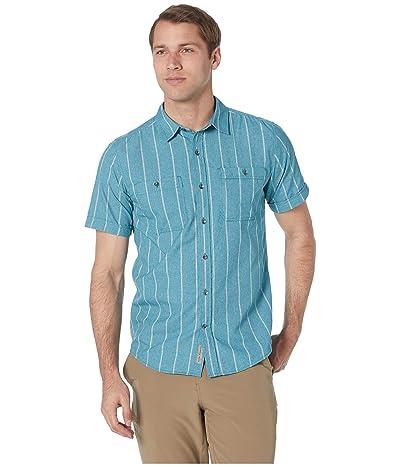 Royal Robbins Vista Dry Short Sleeve Shirt (Smoke Blue) Men