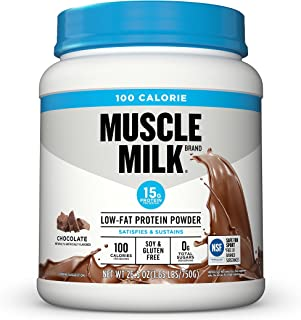 Muscle Milk 100 Calorie Protein Powder, Chocolate, 15g Protein, 1.65 Pound, 25 Servings