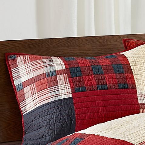 Cedar Ridge Lodge Sunset Pillow Sham in Red - Bed Bath & Beyond