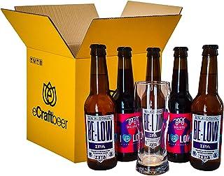 PACK DEGUSTACIÓN REGALO (5x33cl y 1 vaso) - CERVEZAS DE BAJO CONTENIDO EN ALCOHOL - 2 VARIEDADES DE CERVEZAS MAJARA CON VASO INCLUÍDO