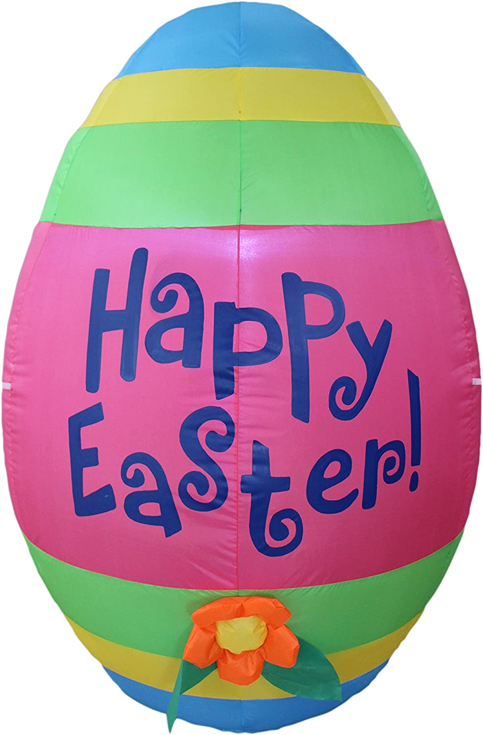4 Foot Tall Inflatable Party Cute with Easter Flowe Egg Colorful Cash Max 82% OFF special price