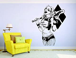 Perfect Print Harley Quinn Doctor Crazy Wall Vinyl Mural Car Decal Sticker Decor Suicide Squad Joker
