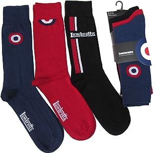 Pack of 3 Lambretta Target Designer Cotton Rich Socks Shoe Size 6-11