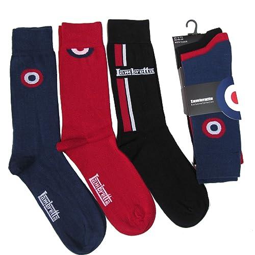 Pack of 3 Lambretta Target Designer Cotton Rich Socks Shoe Size 6-11 f17522d2b