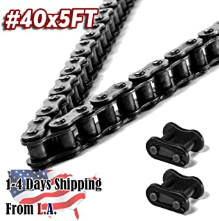 40 Roller Chain 5 Feet with 1 Connecting Link