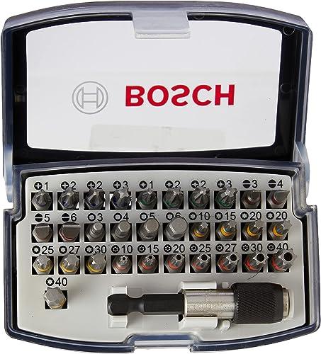 Bosch Professional Set da 32 Pezzi di bit di avvitamento, bit avvitamento duri, accessori trapano avvitatore e avvita...