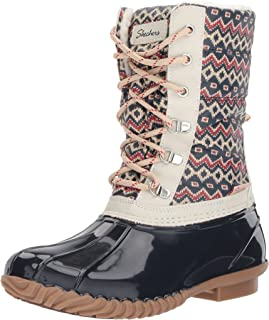 Skechers Women's Hampshire-Printed Quilted Snow Boot