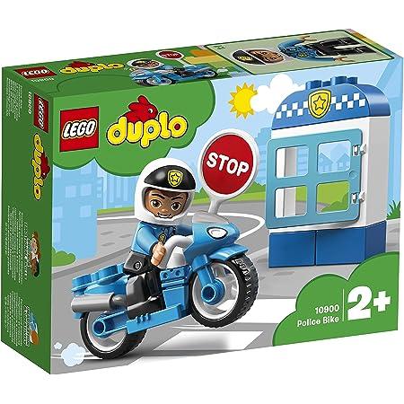 LEGO DuploTown MotodellaPolizia, Set di Mattoncini da Costruzionecon Figura del Poliziotto, Moto della Polizia, Giocattolo per Bambini, 10900