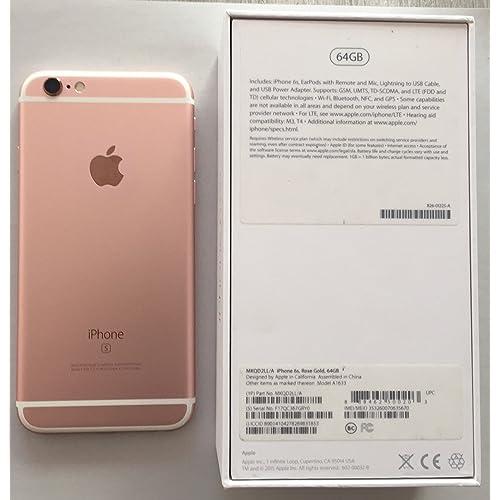 "Apple iPhone 6s - Smartphone libre iOS (4.7"", 64 GB, 2 GB RAM, 4G), color rosa"