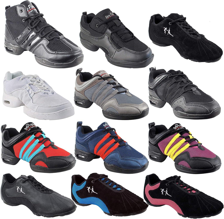 Unisex Zumba Shoes Dance Sneaker for Women & Men : VFSN011 Black Size 12