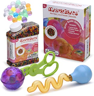 MarvelBeads Water Beads Sensory Toy Set (Scooper & Water Dropper)- Includes 50,000 Water Beads- Fine Motor Tool Set, Non-T...