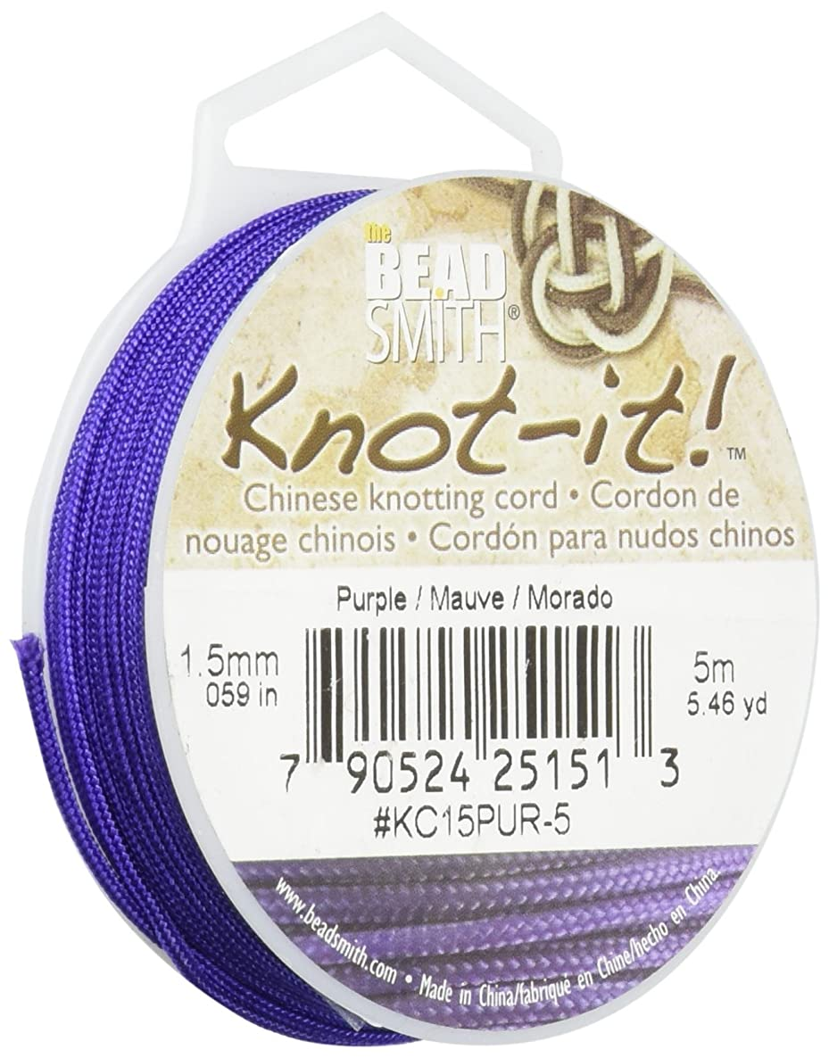 Chinese Knotting Cord 1.5mm 16.4 Feet/Spool-Purple