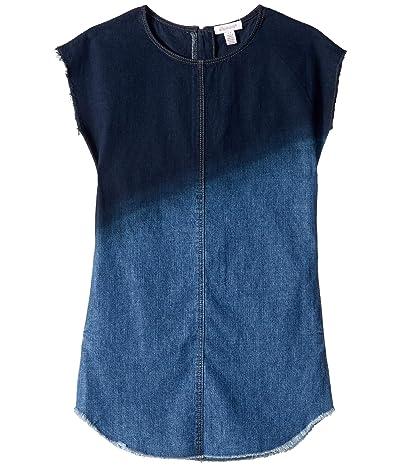 Ella Moss Girl Dip-Dye Denim Dress (Big Kids) (Dark Stone Indigo) Girl