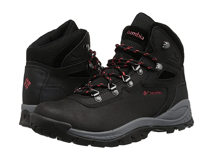 Columbia  Newton Ridge Plus (Black/Poppy Red) Womens Hiking Boots