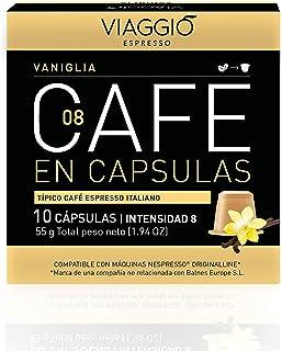 Viaggio Espresso Cápsulas de café compatibles con máquinas Nespresso Vainilla (120 Cápsulas)