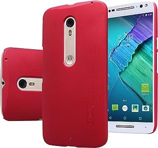 MYLB Kvalitetsskrapa fodral/väska/skyddande skal baksida för Motorola Moto X Style 2015 + 1 förpackning skärmskydd (röd)