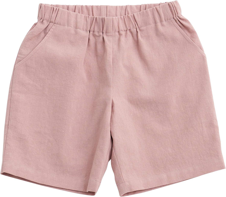 sebien Kids' Linen Basic Shorts