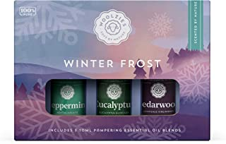 Woolzies 100% Pure Winter Frost Essential Oil Set of 3 | Incl. Peppermint, Eucalyptus & Cedarwood Oils | Highest Quality A...
