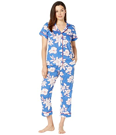 BedHead Pajamas Short Sleeve Cropped Pajama Set (Oh Beautiful) Women