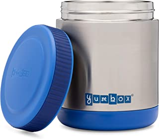 Yumbox Zuppa - Wide Mouth Thermal Food Jar 14 oz. (1.75 cups)- Triple Insulated Stainless Steel Food Container - Stays Hot 6 Hours or Cold for 12 Hours - Leak Proof - in Neptune Blue