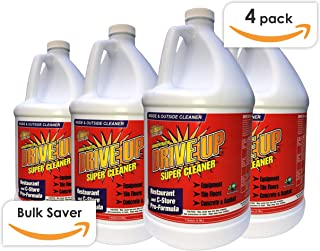 Drive Up Super Cleaner Concentrated Degreaser, 4 x 1 Gal, Multi Purpose & Multi Surface Cleaner, Safest Degreaser, Remove Motor Oil from Concrete, Industrial Strength Cleaning, Case of 4 x 1 Gal