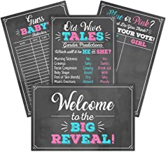 Gender Reveal Party Game Decoration Kit Includes 4-11