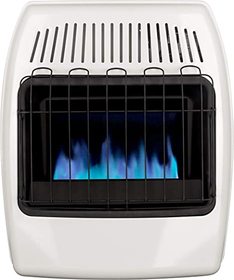 Dyna-Glo 20,000 BTU Natural Gas Blue Flame Vent Free Wall Heater, White: image