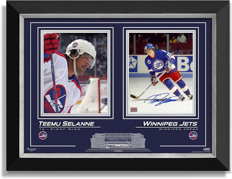 Teeemu Selanne Signed Collector Photos Limited Edition 1 113  Winnipeg Jets