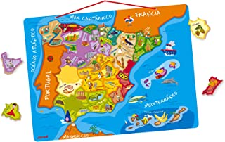 Janod- Puzzle magnético de España (Juratoys J05527)