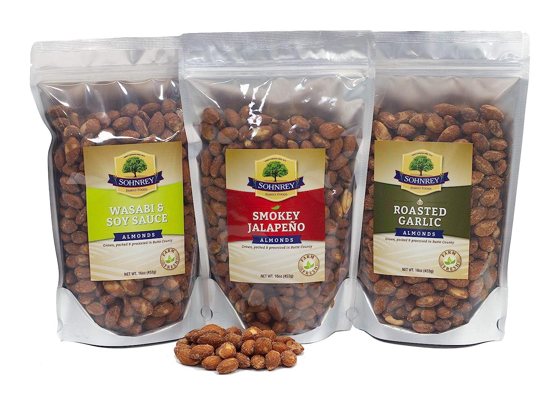 Bold Flavored Roasted Max 60% OFF Almonds - Max 50% OFF Garlic Smokey Jalapeno Wasabi