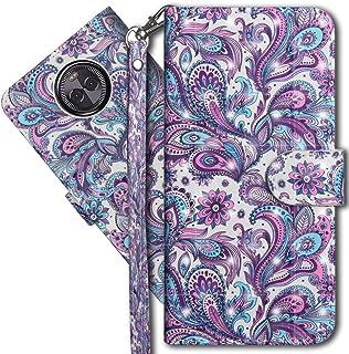 Moto G6 Plus Wallet Case, Motorola G6 Plus Premium PU Leather Case, COTDINFORCA 3D Creative Painted Effect Design Full-Bod...