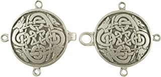 Celtic Wolves Cloak or Cape Clasp - Pewter