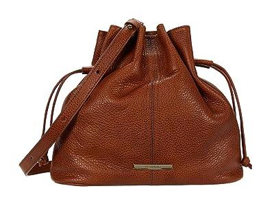 Brahmin Selva Harlow Crossbody (Cognac) Handbags