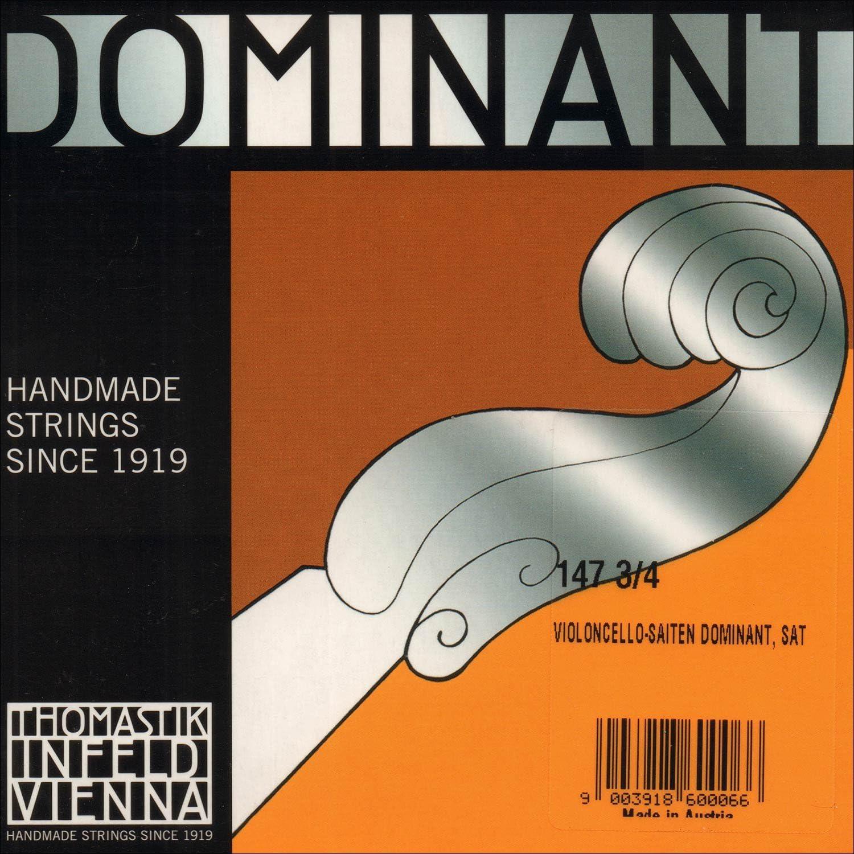 Thomastik Dominant 3 Long-awaited Overseas parallel import regular item 4 Cello Medium Gauge Set String