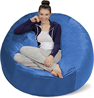 Sofa Sack - Plush Ultra Soft Bean Bags Chairs for Kids, Teens, Adults - Memory Foam Beanless Bag Chair with Microsuede Cover - Foam Filled Furniture for Dorm Room - Royal Blue 5'