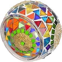 Garneck Suporte de Vela Votiva Mosaico Artesanal Suporte de Vidro Tealight Vela Romântica Aromaterapia para Party Decor Ca...