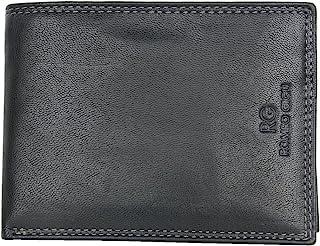 Black Bifold Designed Genuine Leather Wallet Designer Romeo Gigli