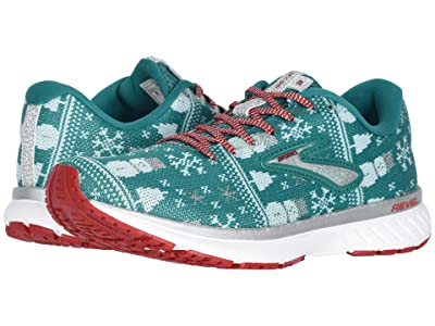 Brooks Revel 3 (Green/Red/Metallic Silver) Women