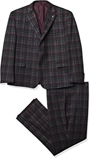 3 Pc. Men's Plaid Modern Fit Suit