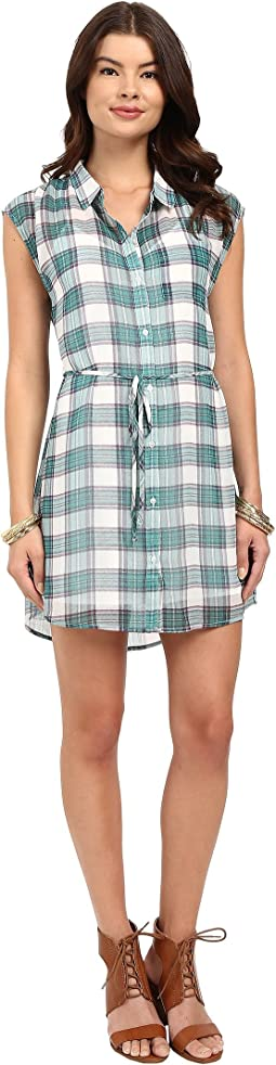 Katrin Pastel Plaid Crinkle Gauze Shirtdress