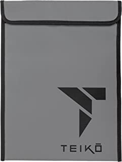 """Fireproof Money & Document Bag by Teiko (15""""x11"""")   Non-Itchy, Zipper Closure, Silicone Coated Fiberglass Fire & Water Resistant Envelope Pouch   Heat Proof Velcro Closure for Maximum Protection"""