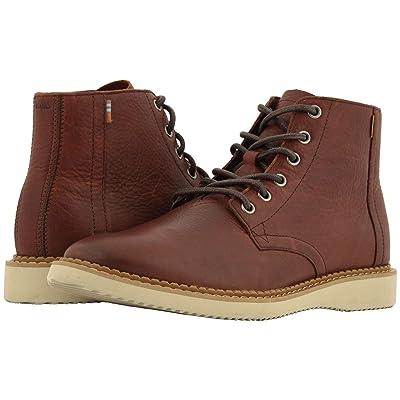 TOMS Porter Water-Resistant Boot (Dark Brown Leather) Men