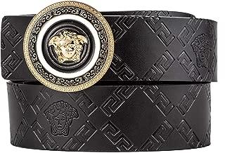 Men's Fashion Comfort Genuine Leather Belt Medusa Shining buckle