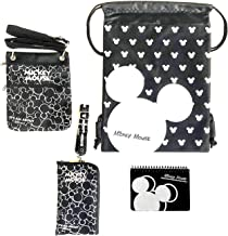 Emerald Trip to Disney Land Mickey Mouse Fun Pack Bundle - 4 Items Set (Big Silver Head Autograhp Book)